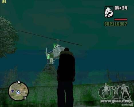 Aide de l'hélicoptère pour GTA San Andreas troisième écran