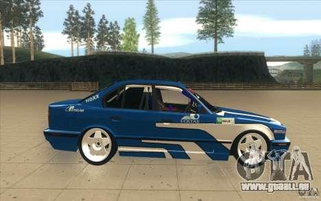 BMW E34 V8 pour GTA San Andreas vue intérieure