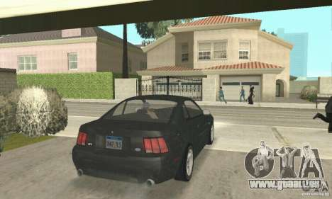 Ford Mustang GT 1999 (3.8 L 190 hp V6) pour GTA San Andreas laissé vue