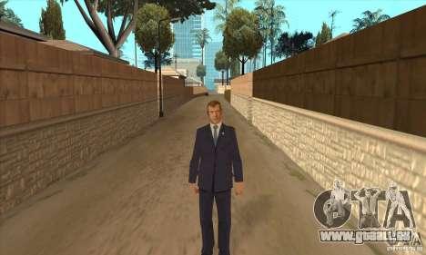 Dmitri Anatoljewitsch Medwedew für GTA San Andreas zweiten Screenshot