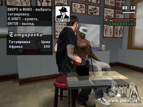 Neue Tattoos für GTA San Andreas dritten Screenshot