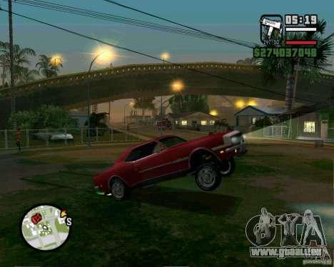 Être capable de soulever la voiture pour votre a pour GTA San Andreas quatrième écran