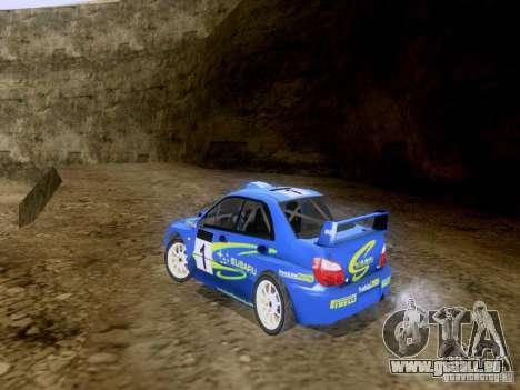 Subaru Impreza WRC 2003 pour GTA San Andreas sur la vue arrière gauche