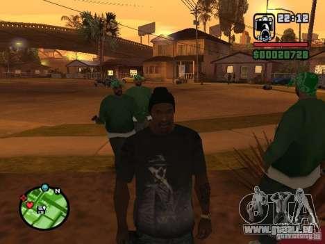 Watchmen Rorschach chemise pour GTA San Andreas troisième écran