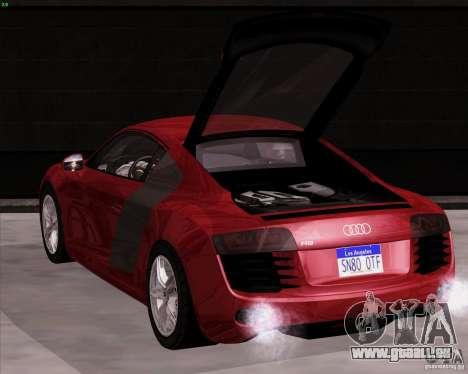 Audi R8 Production für GTA San Andreas zurück linke Ansicht