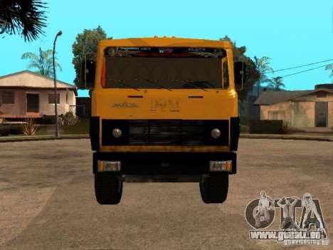 MAZ 54323 MÜLLWAGEN für GTA San Andreas zurück linke Ansicht