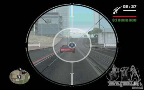 Sniper mod v 1. pour GTA San Andreas troisième écran