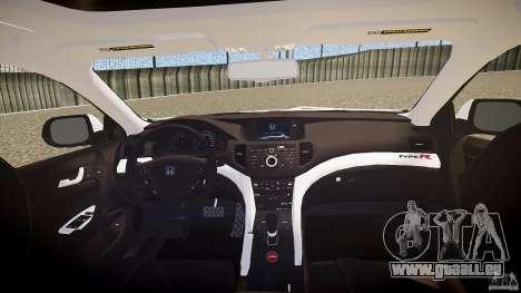 Honda Accord Type R NYPD (City Patrol 7605) ELS pour GTA 4 vue de dessus