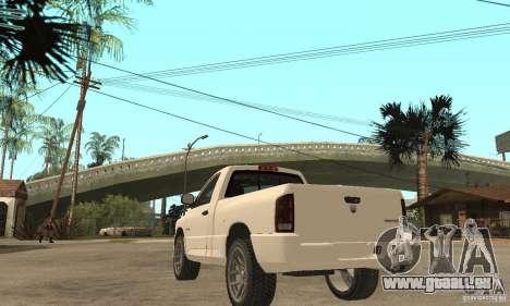 Dodge Ram SRT 10 für GTA San Andreas zurück linke Ansicht
