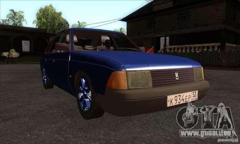 2141 AZLK personnes Edition pour GTA San Andreas vue arrière