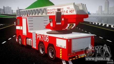 Scania R580 Fire ladder PK106 [ELS] für GTA 4 hinten links Ansicht