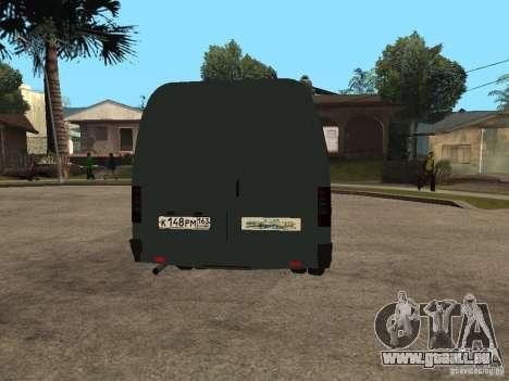 Business Gazelle 2705 pour GTA San Andreas vue arrière