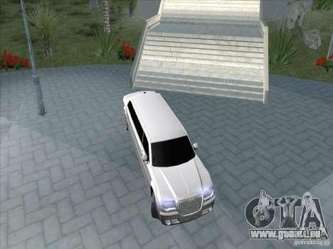 Chrysler 300C Limo für GTA San Andreas Rückansicht