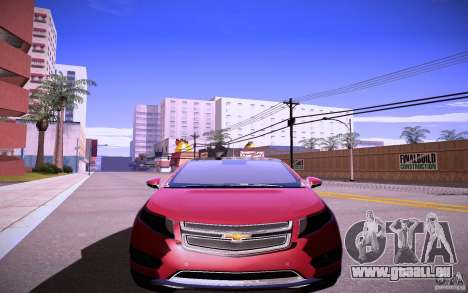 Chevrolet Volt pour GTA San Andreas laissé vue
