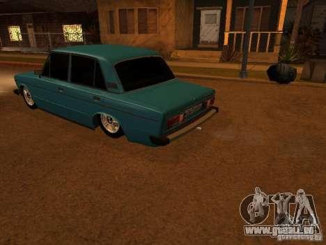VAZ 2106 Hobo pour GTA San Andreas vue intérieure