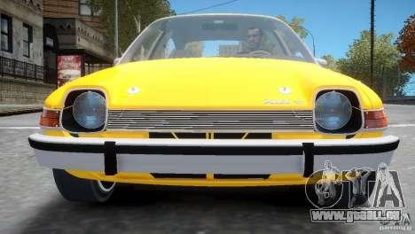 AMC Pacer 1977 v1.0 pour GTA 4 est un côté