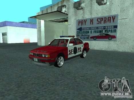 BMW 535i E34 Police pour GTA San Andreas