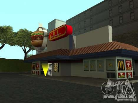 Mc Donalds für GTA San Andreas her Screenshot