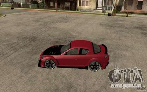 Mazda RX-8 Time Attack JDM pour GTA San Andreas laissé vue