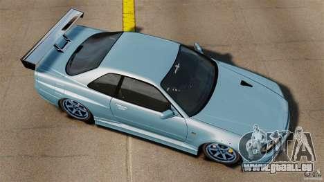 Nissan Skyline GT-R (BNR34) 2002 pour GTA 4 est un droit