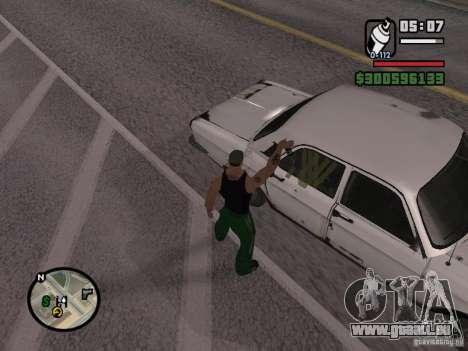 Repeindre de l'actionneur pour GTA San Andreas huitième écran