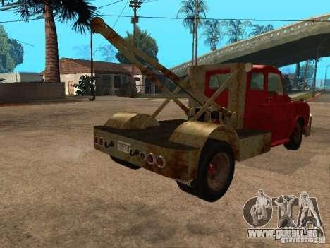 Camion Dodge est rouillée pour GTA San Andreas vue arrière