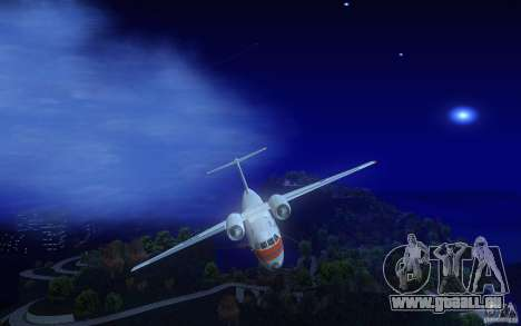 Antonov 74 für GTA San Andreas Innenansicht