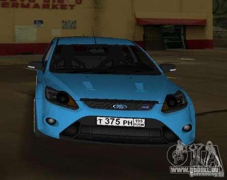 Ford Focus RS 2009 pour une vue GTA Vice City de la droite