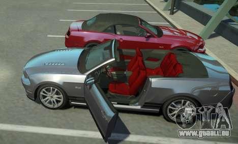 Ford Mustang GT Convertible 2013 pour GTA 4 Vue arrière