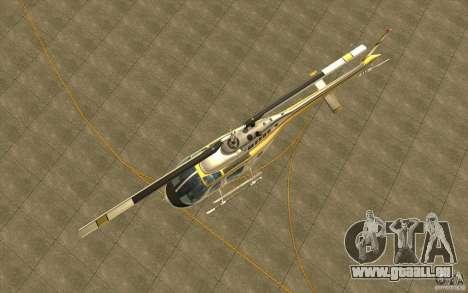 Bell 206 B Police texture4 für GTA San Andreas Innenansicht