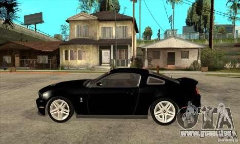 Ford Shelby GT 500 2010 pour GTA San Andreas laissé vue