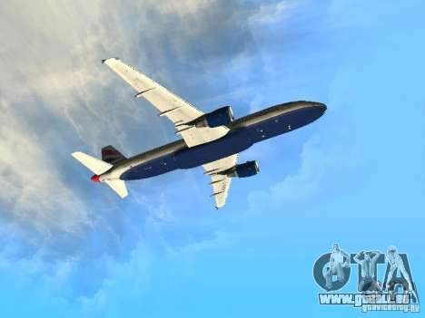 Airbus A320 British Airways für GTA San Andreas Innenansicht