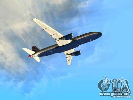 Airbus A320 British Airways für GTA San Andreas Innenansicht