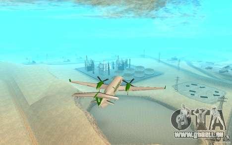 Beechcraft B1900D für GTA San Andreas zurück linke Ansicht
