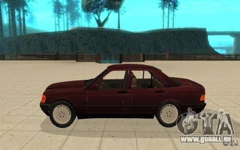 Mercedes-Benz 190 E (W201) 1984 version 1.0 pour GTA San Andreas laissé vue