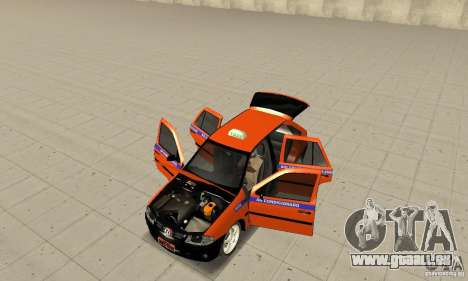 Volkswagen Gol G4 Taxi für GTA San Andreas Rückansicht