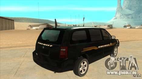 Dodge Caravan Sheriff 2008 pour GTA San Andreas vue de droite