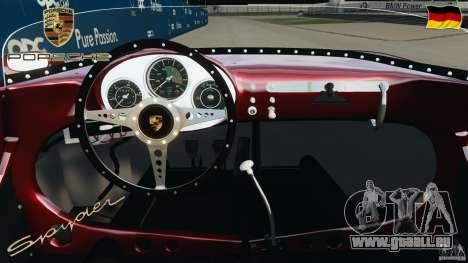 Porsche 550 A Spyder 1956 v1.0 pour GTA 4 Vue arrière