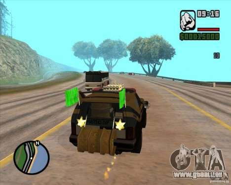 Machine de voiture-mort de mort pour GTA San Andreas cinquième écran