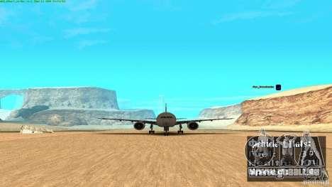 Boeing 777-200 Air Canada für GTA San Andreas zurück linke Ansicht