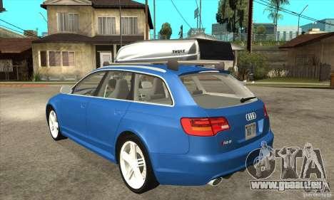 Audi RS6 Avant 2009 für GTA San Andreas zurück linke Ansicht