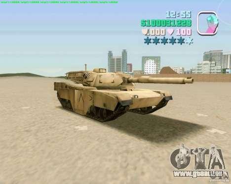 M 1 A2 Abrams pour GTA San Andreas sur la vue arrière gauche