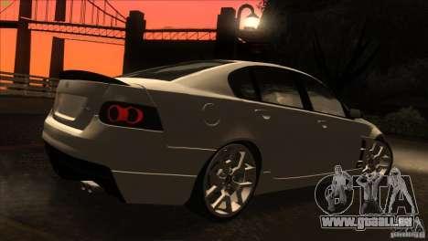 Holden HSV W427 für GTA San Andreas Seitenansicht