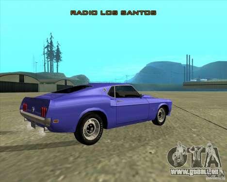 Ford Mustang Boss 429 1969 für GTA San Andreas Rückansicht