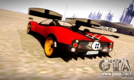 Pagani Zonda Tricolore V2 pour GTA San Andreas vue de côté