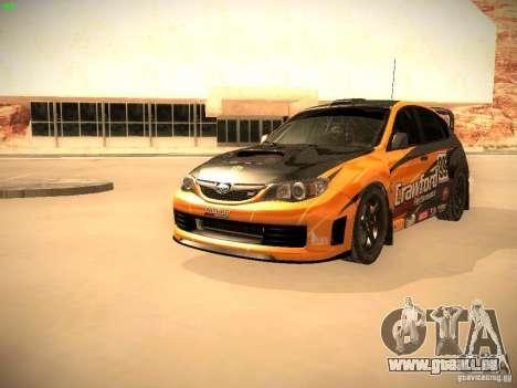 Subaru Impreza Gymkhana für GTA San Andreas Unteransicht