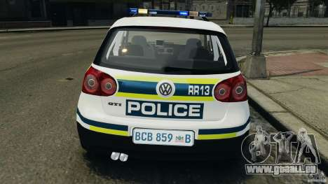 Volkswagen Golf 5 GTI South African Police [ELS] pour GTA 4 Salon