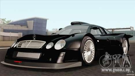 Mercedes-Benz CLK GTR Race Car für GTA San Andreas Rückansicht