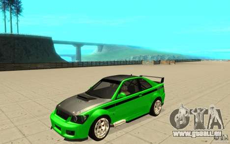 GTA IV Sultan RS FINAL für GTA San Andreas obere Ansicht