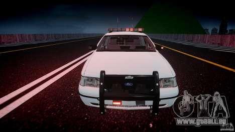 Ford Crown Victoria v2 NYPD [ELS] pour GTA 4 est une vue de dessous